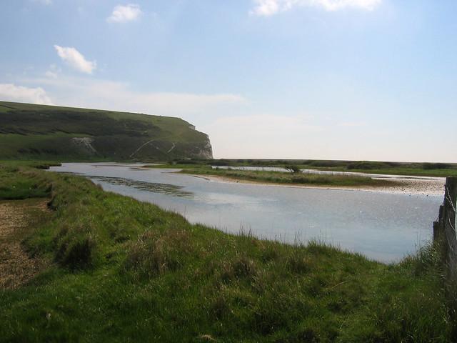 The River Cuckmere at Cuckmere Haven
