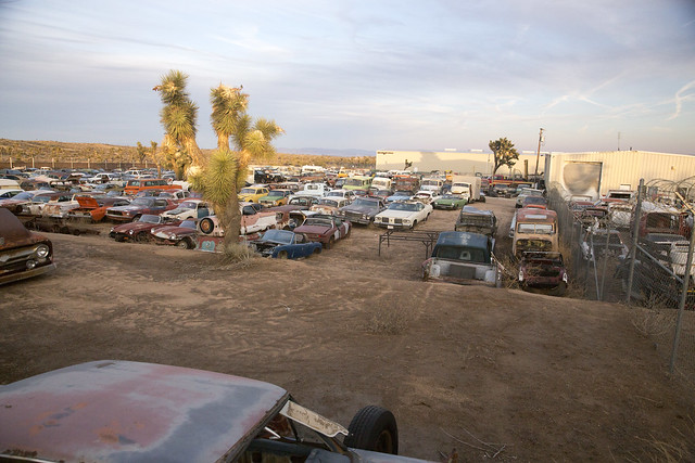 Awesome junkyard in Yucca Valley, CA