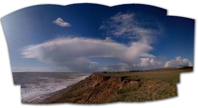 Crazy skies iphone panoramic stitch monday morning blues