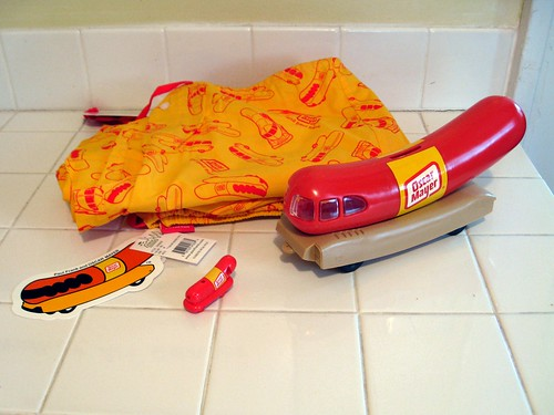 new wienermobile gear! | by the queen of subtle