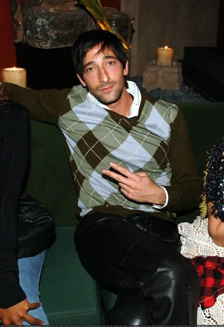 Adrien Brody leatherpants