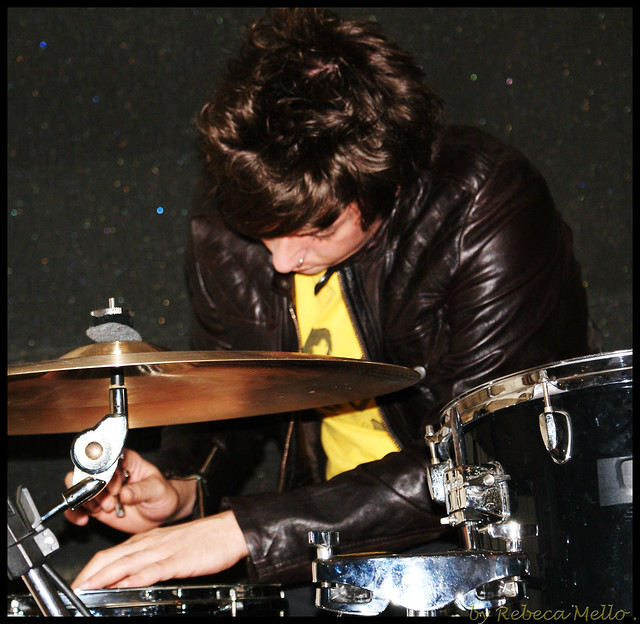 Tuning the drums..