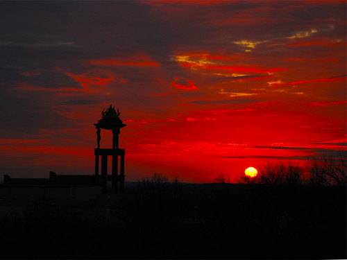 morning red sky sun girl sunrise austin landscape skies texas balcony tx horizon flutter mybalcony fluttergirl
