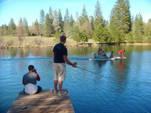 Fishing at Diggers Creek