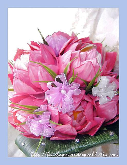 Lotus Bridal Bouquet 5 Bridal Bouquet Of 10 Lotus In Pink Flickr