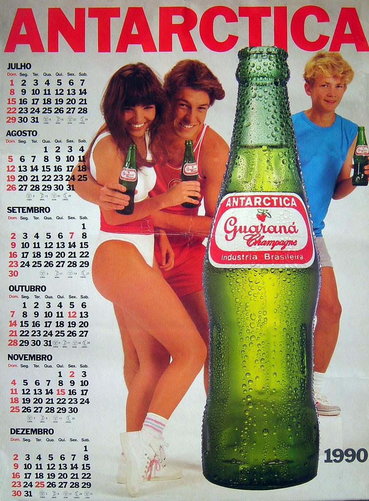1990 Calendario.Calendario Guarana Antarctica De 1990 Sergioesteves Flickr