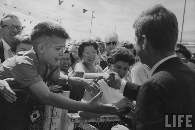 JFK wearing double-sided cuff links
