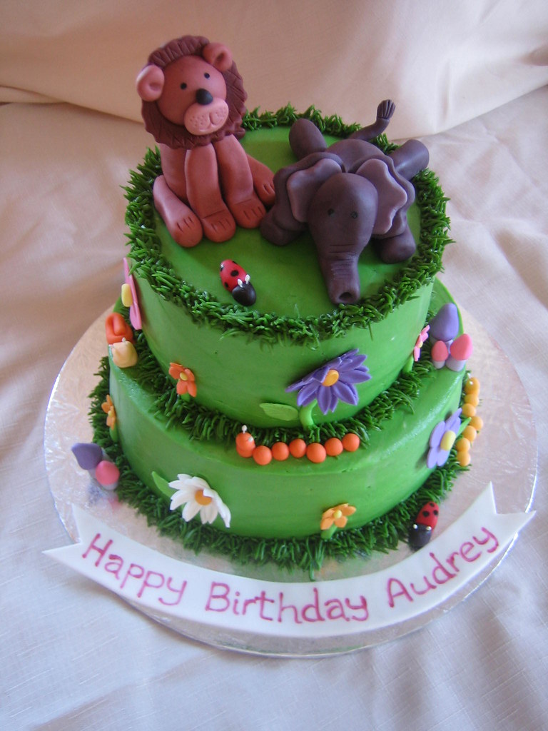 Stupendous Garden Animals Birthday Cake Garden Animals Birthday C Flickr Funny Birthday Cards Online Benoljebrpdamsfinfo