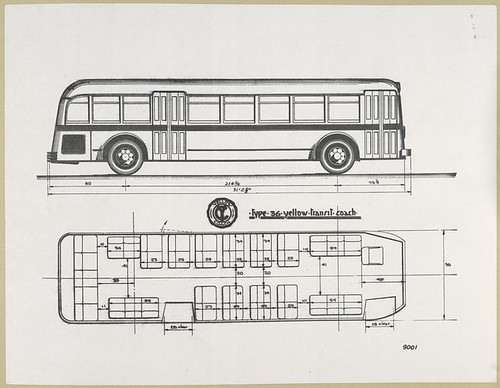 Yellow Coach - Type - 36 - Yellow Transit - Coach. [drawings... | by New York Public Library