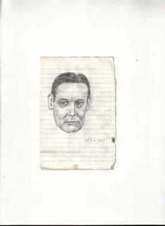 Zavier Ellis 'Mad Genius #6', 2006 Pencil on paper 14.8x10.7cm