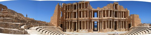 Panoramic view of the theatre, Sabratha   by Mary Loosemore