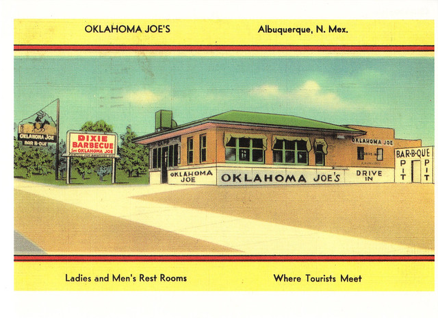 Route 66 Oklahoma Joe's Restaurant Postcard