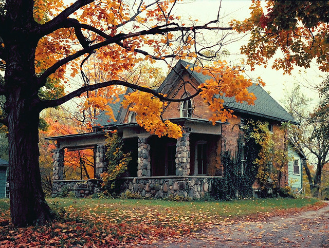 Old House in Grand Ledge - November, 1983 - Shot on Film