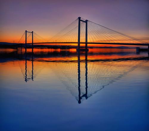 sunset sky river washington dusk sigma wa 1020mm cablebridge kennewick pasco aplusphoto colourartaward tricties nikond90hdr