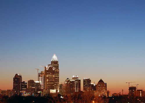 park city sunset urban building tower skyline modern skyscraper office nc high downtown charlotte dusk central northcarolina center uptown highrise cbd rise noda qc cordelia clt