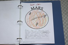 Mars notebooking page