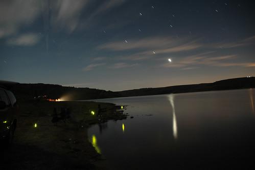 longexposure sunset lake reflection water night clouds landscape utah fishing ut nikon d70 nikond70 reservoir nightphoto glowsticks startrails jeffhillhouse