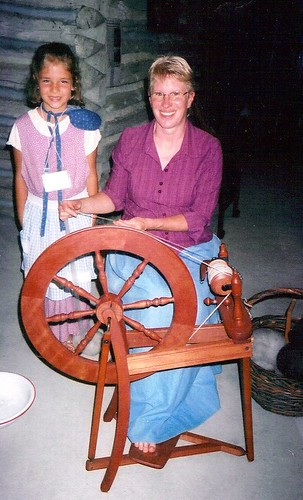 Spinning wool into yarn | by dresdenmuseum