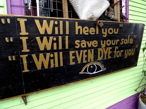 Shoe repair shop cleverness | by SanFranAnnie