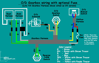 MGB Overdrive - wiring diagram (with fuse)   The diagram tha…   FlickrFlickr