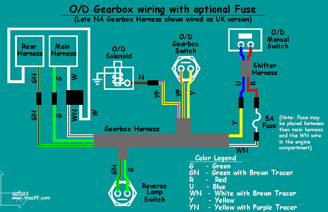 mgb overdrive wiring diagram (with fuse) the diagram tha\u2026 flickr