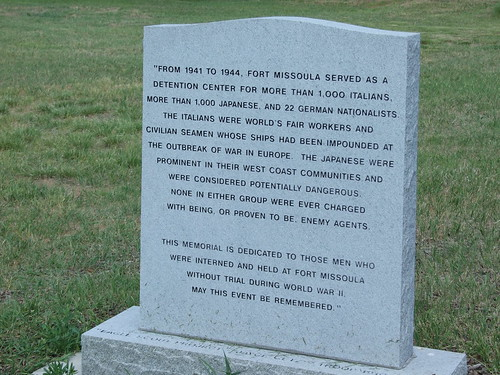 Monument outside internment building | by jen-the-librarian