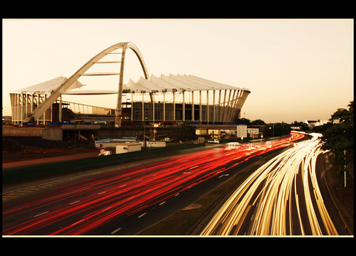 africa cars lights football construction traffic stadium fifa soccer south trails trail worldcup build 2010 durban southaftica durbansouthafrica 50shots mosesmabhida