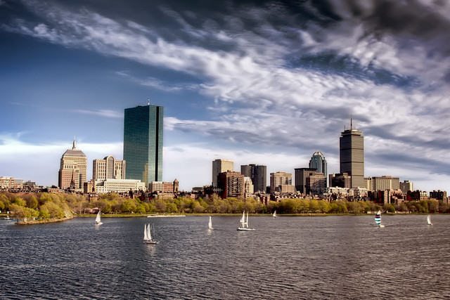 Boston Back-Bay from the Long Fellow Bridge