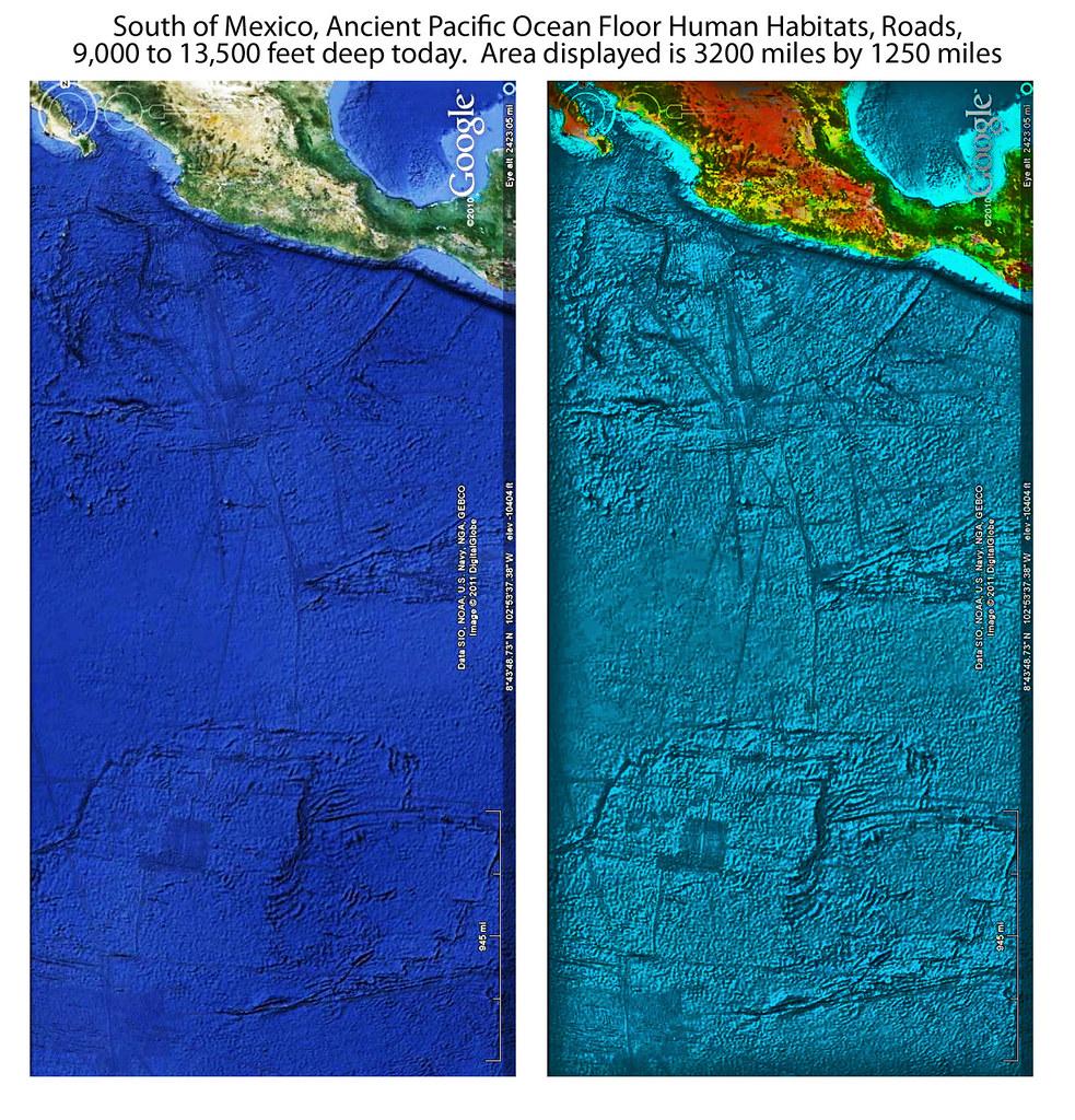 South of Mexico, Pacific Ocean Floor Ancient Habitats