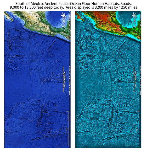South of Mexico, Pacific Ocean Floor Ancient Habitats
