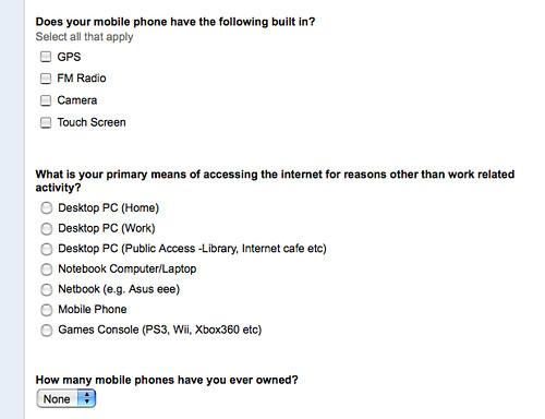 Google form question types | Tony Hirst | Flickr
