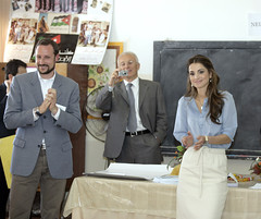 Prince Haakon and Queen Rania - World Economic Forum on the Middle East Dead Sea Jordan 2007