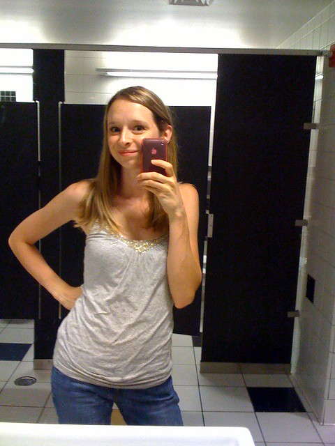 Yes, I am so narcissistic that I take pictures of myself in the bathroom...