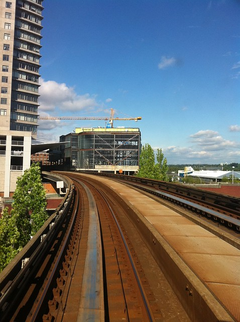 Construction at New Westminster Station