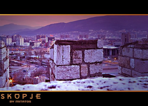 from tower view skopje