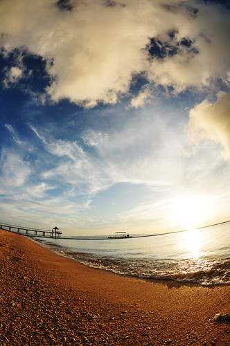blue sunset sea summer sky orange cloud beach japan landscape nikon 日本 okinawa 夏 雲 夕日 海 空 青 風景 ishigaki オレンジ 石垣島 d300 ビーチ yaeyama 八重山 fusaki 八重山諸島 atx107dxfisheye1017mmf3545 フサキ
