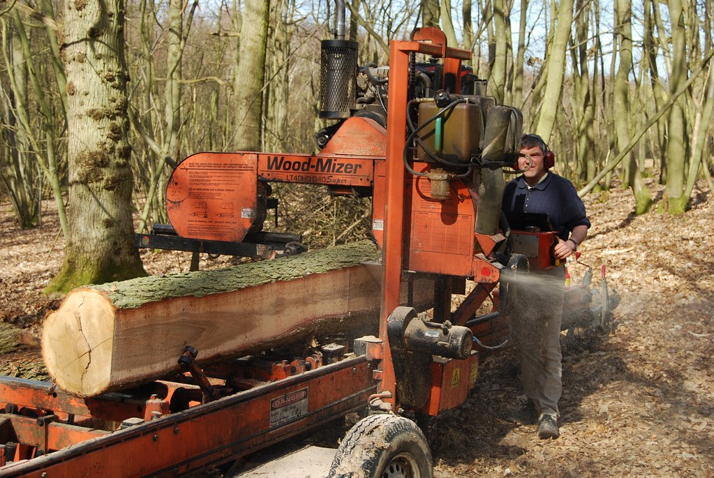 Wood Mizer portable sawmill | Timber was being extracted by