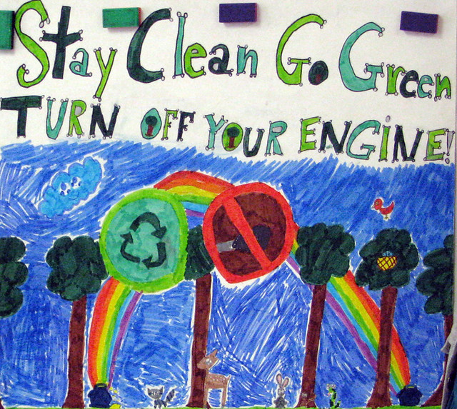 Stay clean go green turn off your engine