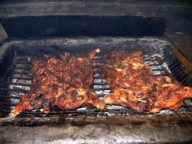 Barbecue is a noun, not a verb.