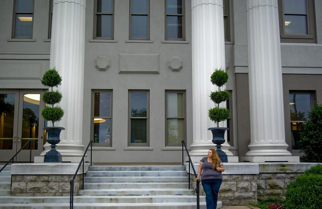 Alexis Lienhart outside Freeman Hall, Belmont University, Nashville, TN