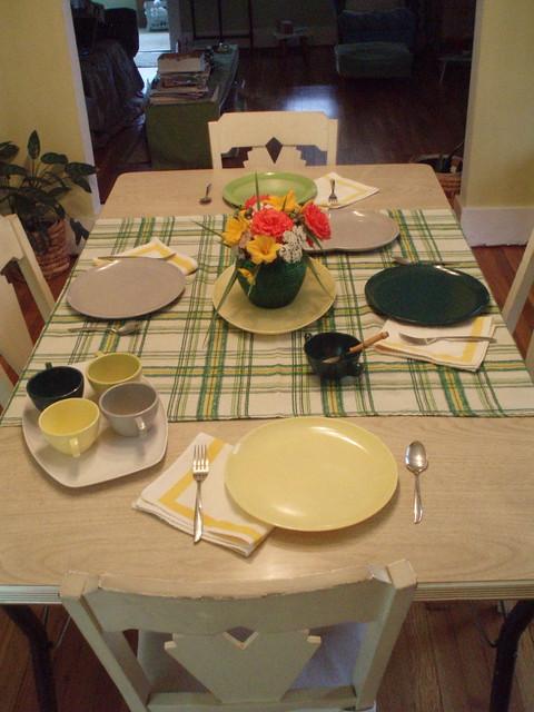 last nights summertime dinner setting