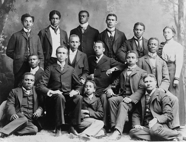 African American College Students Group Portrait Of Africa