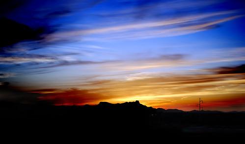 ocean blue sunset sky orange sunlight storm mountains water clouds landscape outside fire desert ablaze godsbeauty tucsonarizonausa gkcparkinggarage