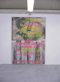 Zavier Ellis 'Forever', 2005 House paint on board 275x200cm (inst)