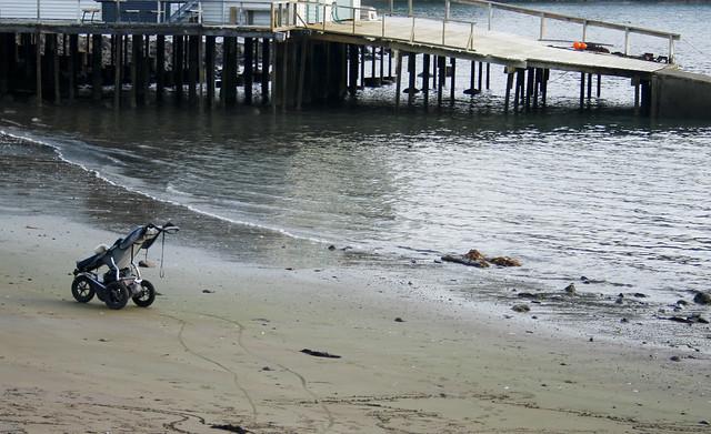 abandoned stroller
