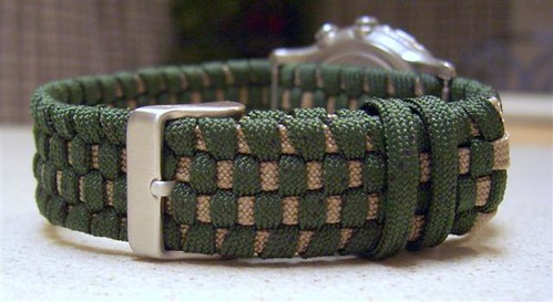 Two toned adjustable paracord watchband... | by Stormdrane
