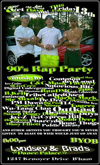 90s rap party flyer | Brad Walton | Flickr