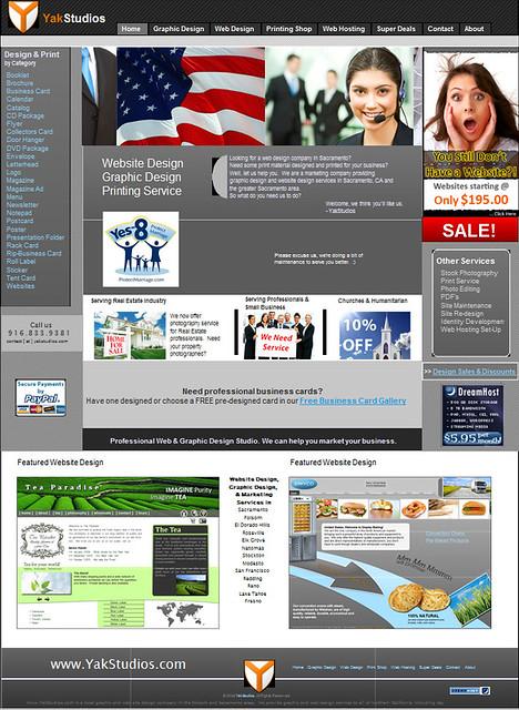 Yak Studios Homepage - version 4.0