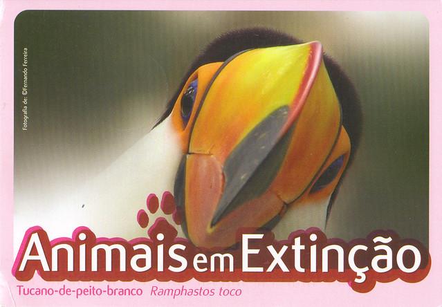 Animals In Extinction Postcard