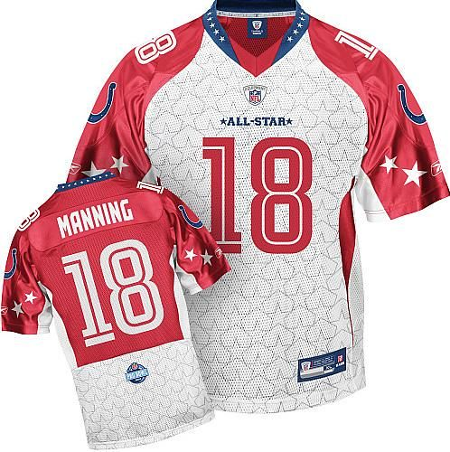 wholesale dealer 45e68 7c613 Reebok Indianapolis Colts Peyton Manning 2009 Pro Bowl AFC ...